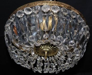 A VINTAGE FRENCH CEILING LIGHT, CIRCULAR PLAFONNIER - Ref: ANV25